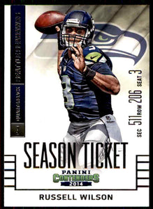 Russell Wilson 2014 Panini Contenders Season Ticket Series Mint Card #87