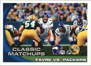 Brett Favre 2010 Topps Classic Matchups Favre vs. Packers Series Mint Card #281