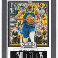 Kevin Durant 2019 2020 Panini Contenders Draft Picks Season Ticket Basketball Series Mint Card #28