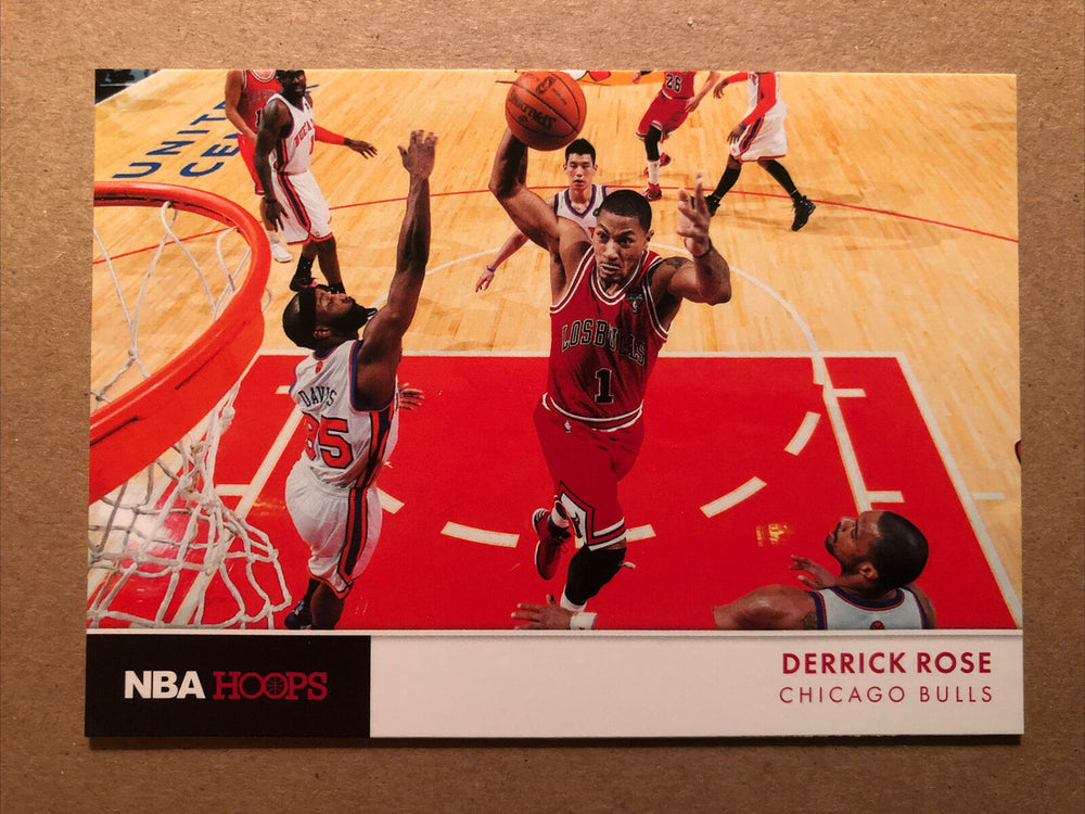 Derrick Rose 2012 2013 Hoops Action Photos Mint Series Card #7