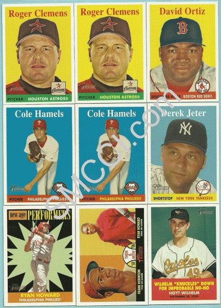 2007 Topps Heritage Baseball Series complete mint
