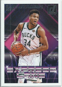 Giannis Antetokounmpo 2018 2019 Donruss Express Lane Series Mint Card #23