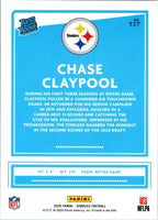Pittsburgh Steelers 2020 Donruss Factory Sealed Team Set with Chase Claypool Rated Rookie Card #327