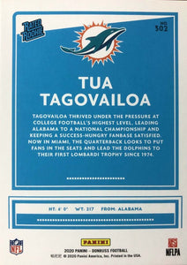 Miami Dolphins 2020 Donruss Factory Sealed Team Set Featuring Tua Tagovailoa Rated Rookie Card #302