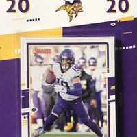 Minnesota Vikings  2020 Donruss Factory Sealed Team Set Featuring a Justin Jefferson Rated Rookie Card