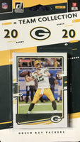 Green Bay Packers 2020 Donruss Factory Sealed Team Set Featuring Jordan Love and AJ Dillon Rated Rookie cards