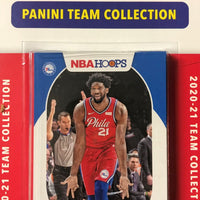 Philadelphia 76ers 2020 2021 Hoops Factory Sealed Team Set with a Rookie card of Tyrese Maxey
