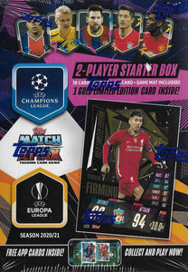 2020 2021 Topps Match Attax UEFA Starter Box with Limited Edition Roberto Firmino Gold Card