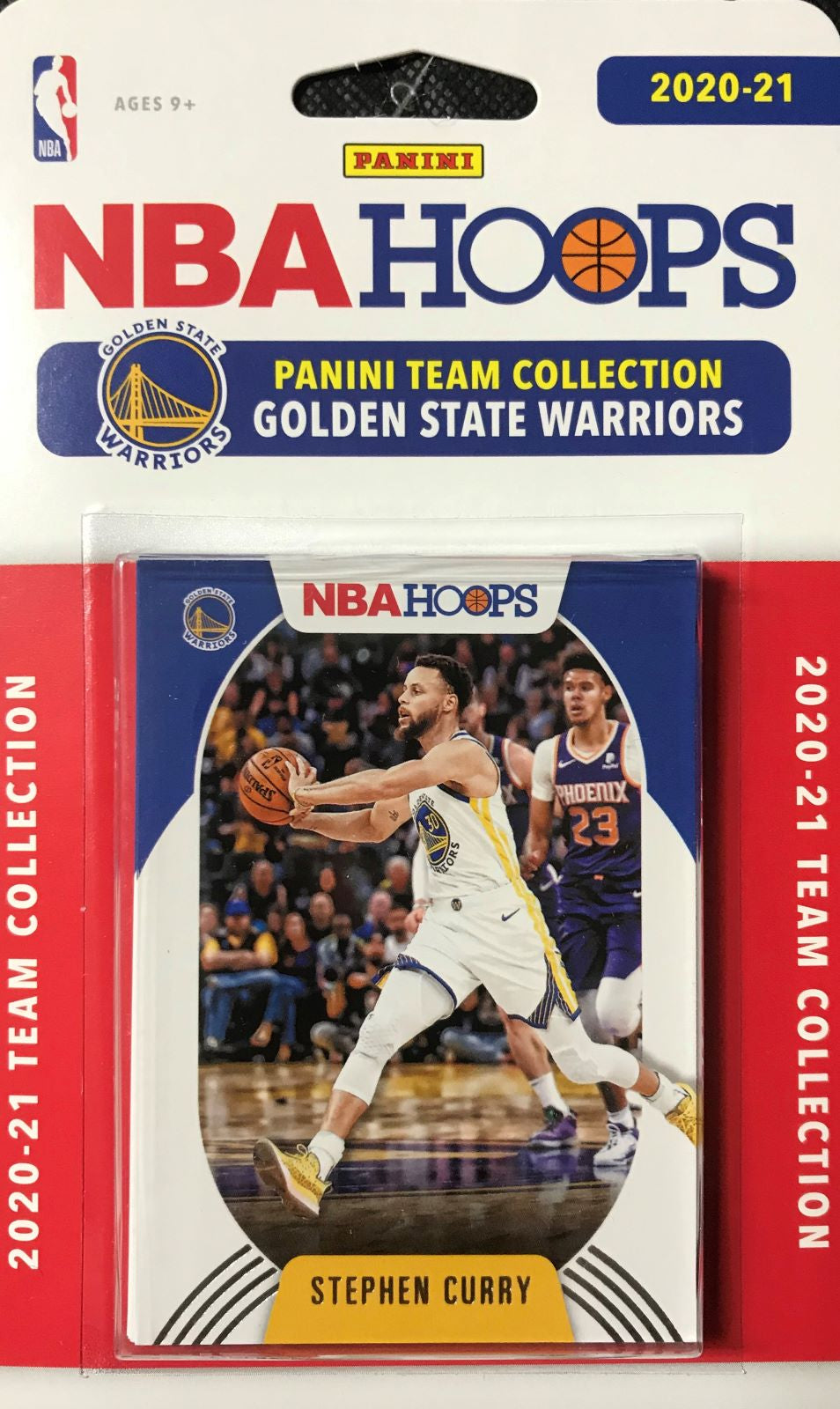 Golden State Warriors 2020 2021 Hoops Factory Sealed Team Set with Rookie Cards of James Wiseman and Nico Mannion