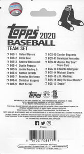 Boston Red Sox 2020 Topps Factory Sealed 17 Card Team Set