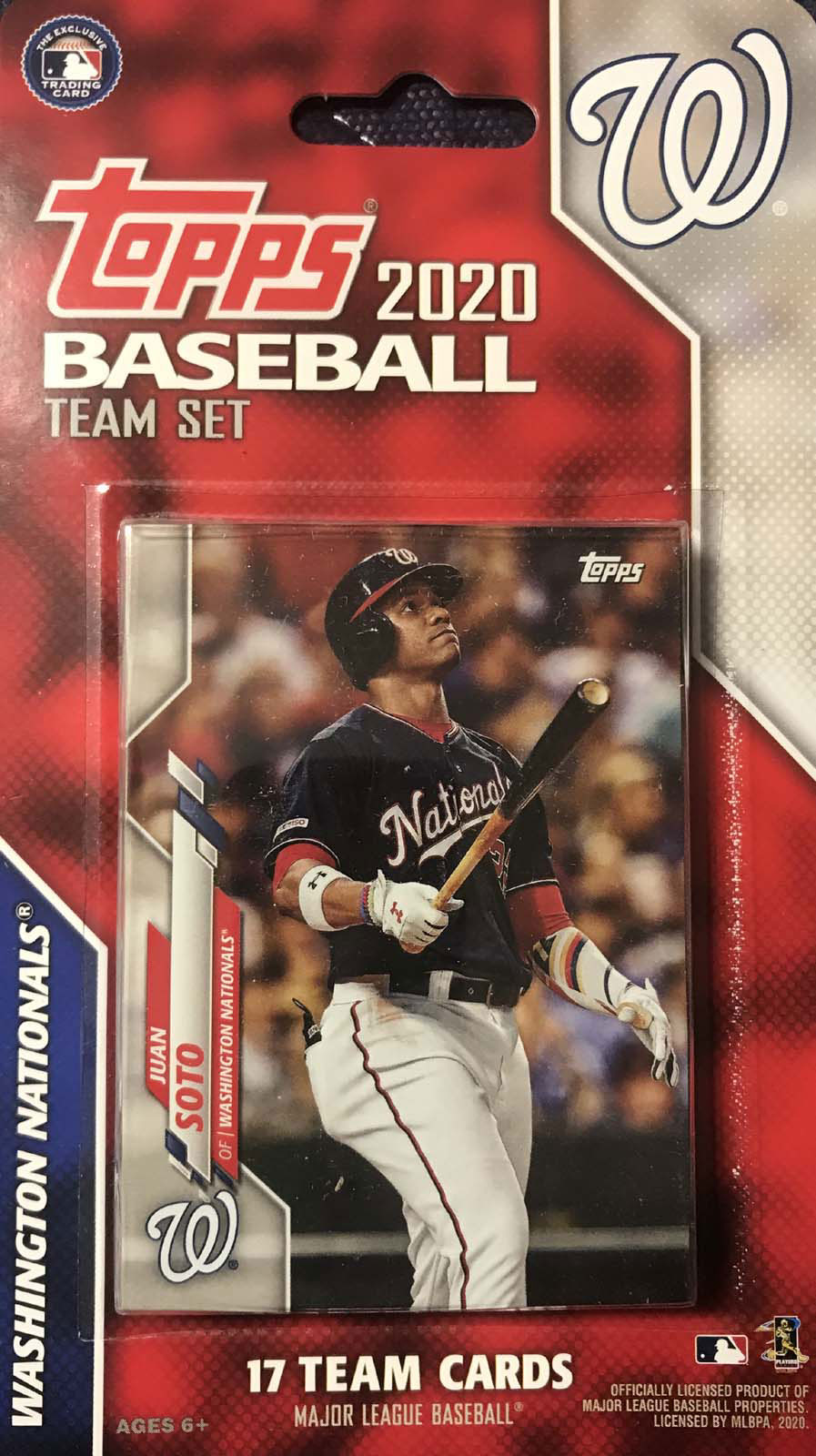 Washington Nationals 2020 Topps Factory Sealed 17 Card Team Set