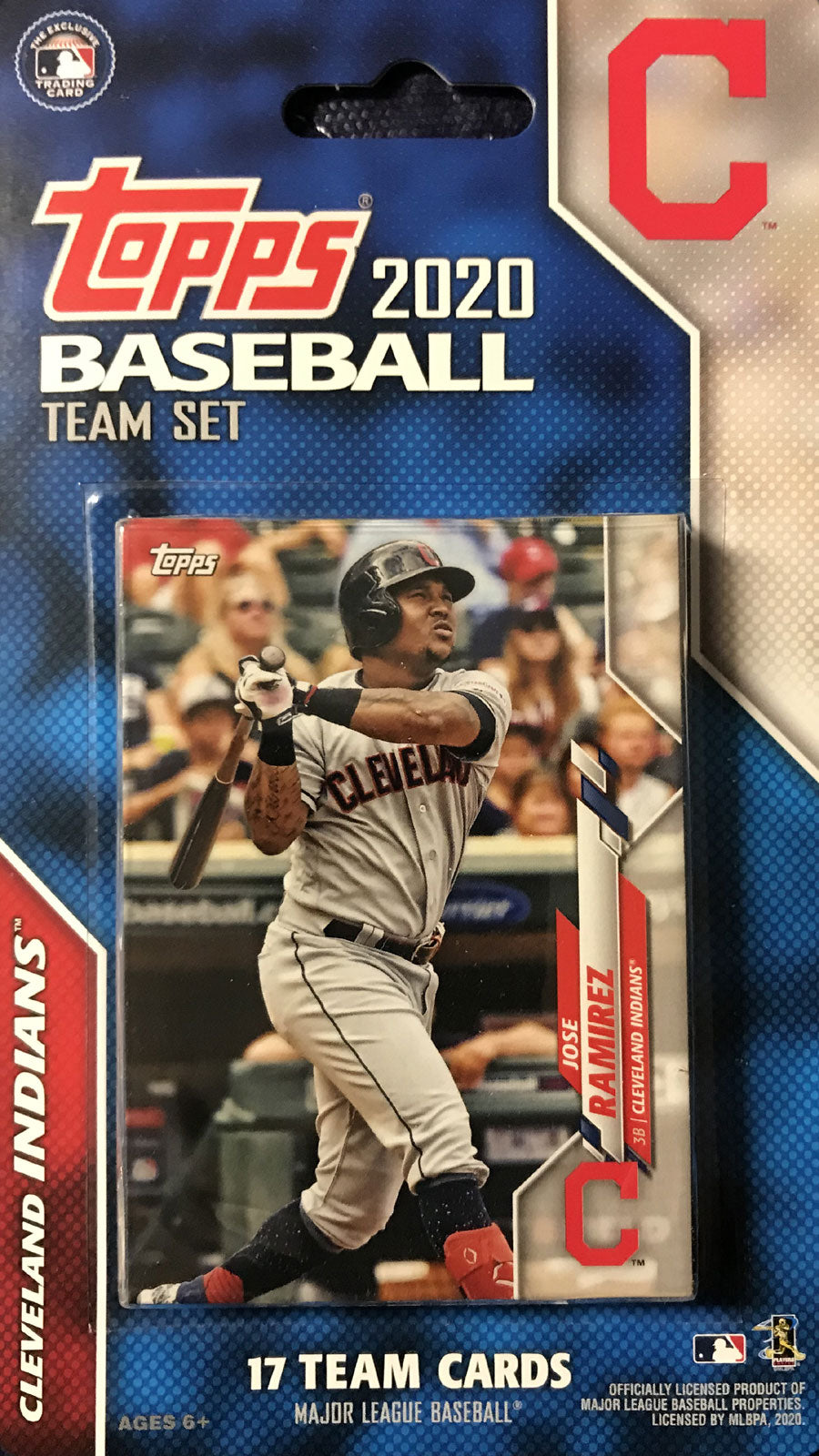 Cleveland Indians 2020 Topps Factory Sealed 17 Card Team Set