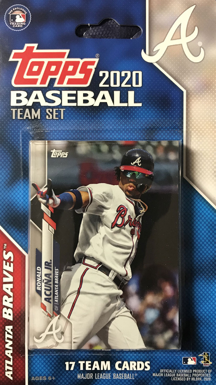 Atlanta Braves 2020 Topps Factory Sealed 17 Card Team Set