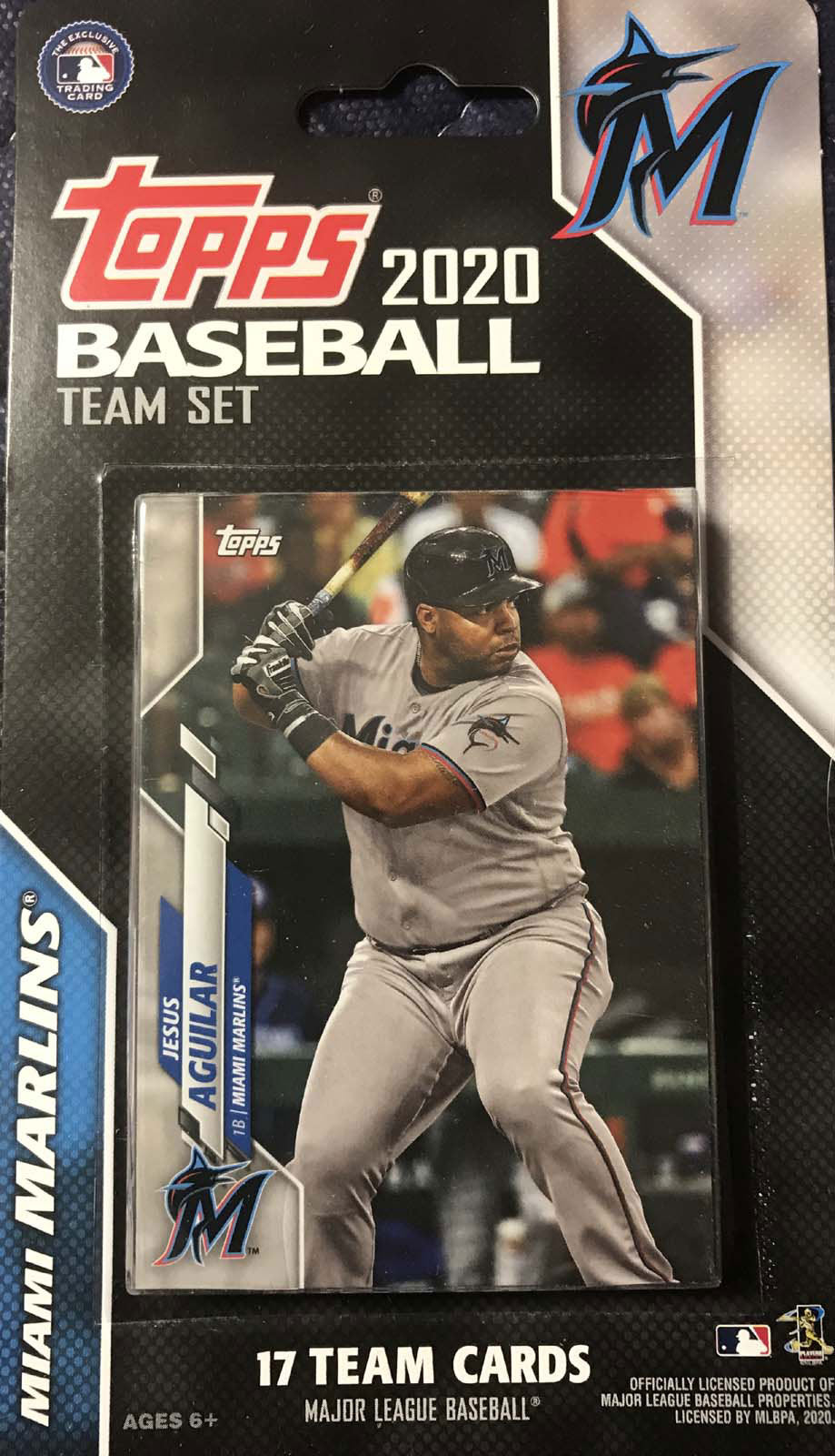Miami Marlins 2020 Topps Factory Sealed 17 Card Team Set