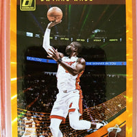 Dwyane Wade 2018 2019 Panini Donruss Holo Orange Laser Series Mint Card #15