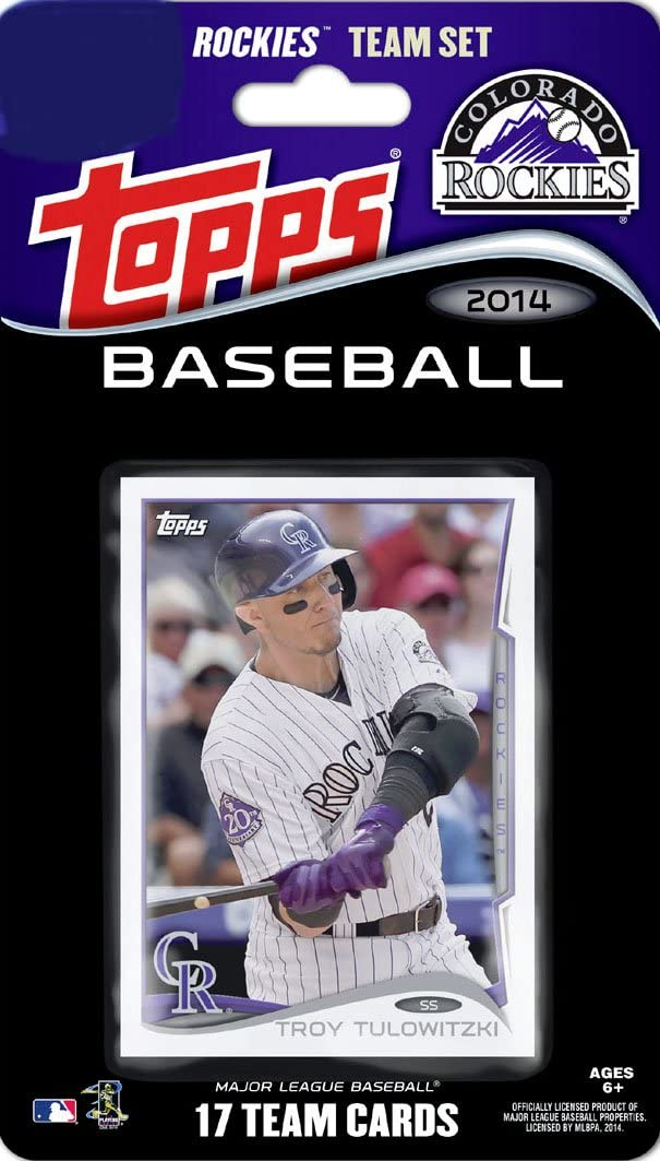 Colorado Rockies 2014 Topps Factory Sealed 17 Card Team Set
