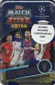 2019 2020 Topps Match Attax UEFA Champions League Extra Edition CHAMPIONS Sealed MEGA Tin