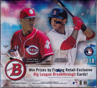 2018 Topps BOWMAN Baseball Retail 12 Box 24 Pack Factory Sealed CASE