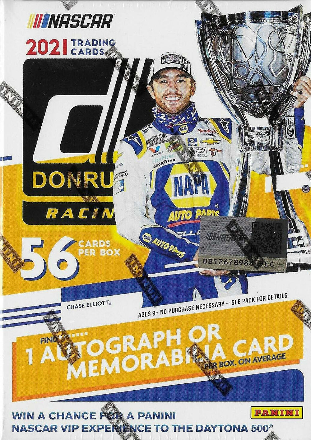 2021 Donruss Series NASCAR Blaster Box with 1 Autograph or Memorabilia Card plus Chance at Retail EXCLUSIVE CHECKERS