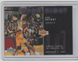 Kobe Bryant 2002 2003 Upper Deck Game Night Basketball Series Mint Card #GN1
