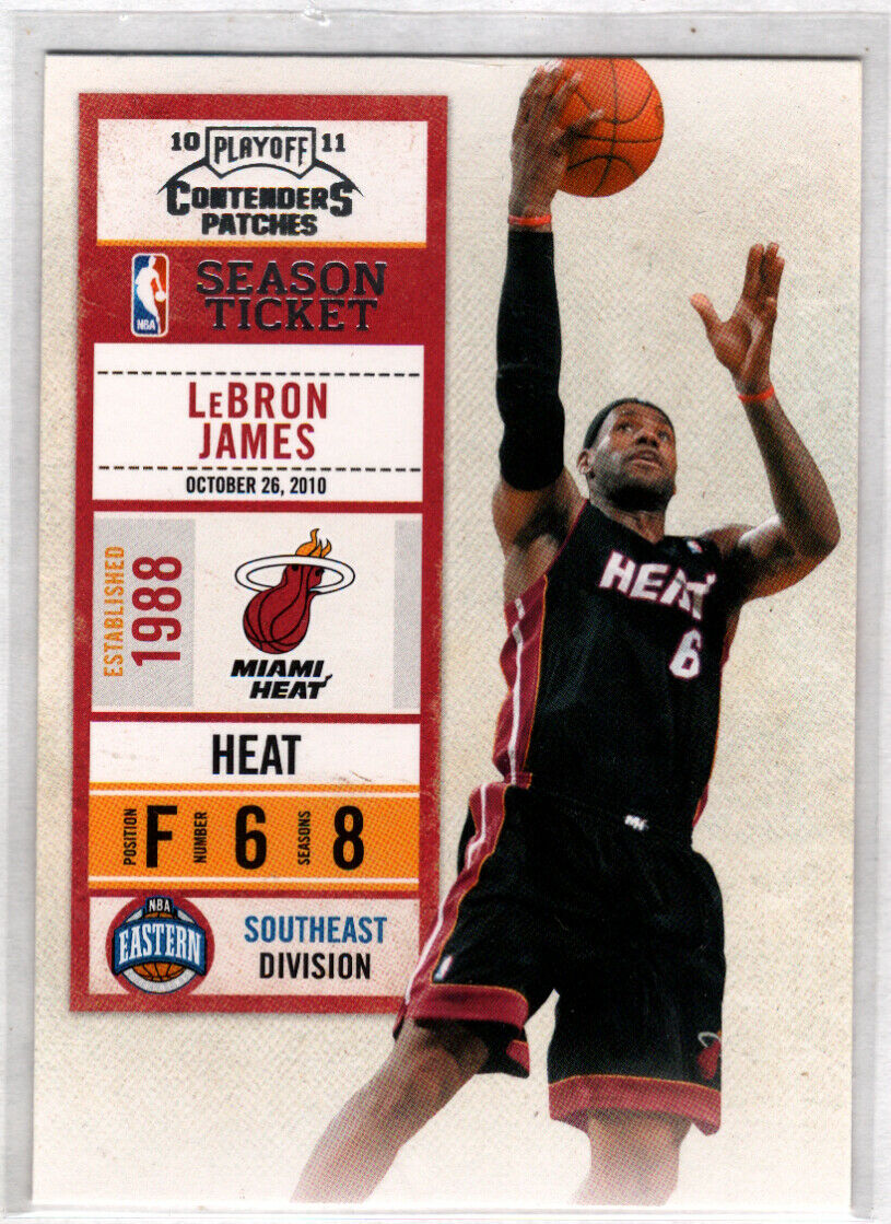 LeBron James 2010-11 Playoff Contenders Season Ticket Basketball Series Mint Card #93
