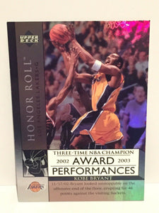 Kobe Bryant 2003 2004 Upper Deck Honor Roll Award Performance Basketball Series Mint #AP1