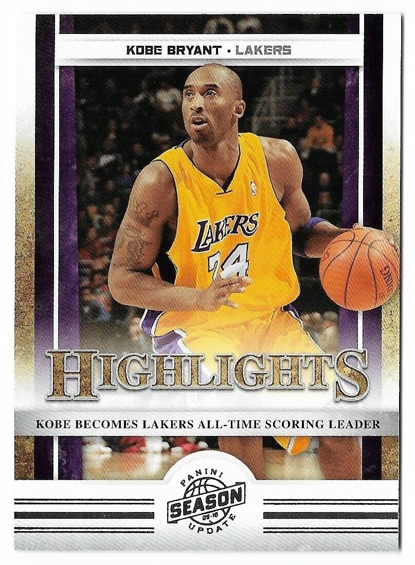 Kobe Bryant 2010 2011 Panini Season Update Highlights Basketball Series Mint #1