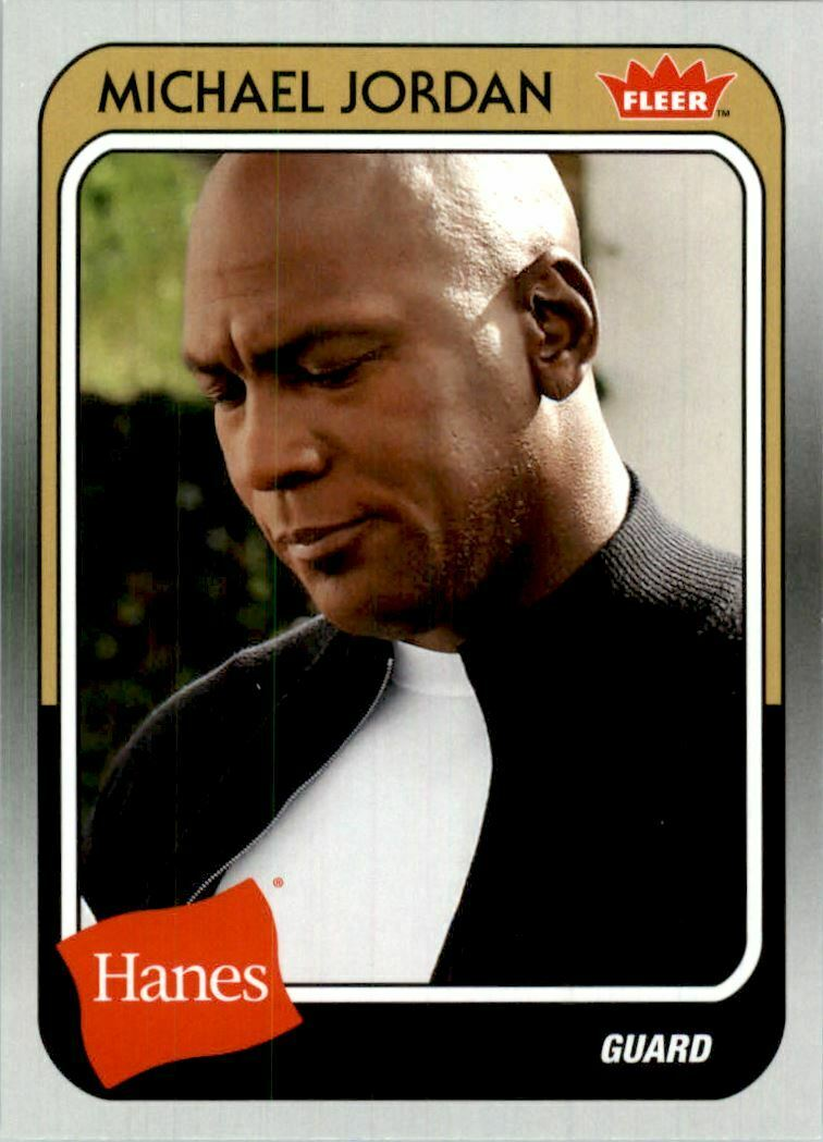 Michael Jordan 2019 Fleer Hanes  Basketball Series Mint Card #MJ-49