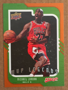 Michael Jordan 2008-2009 Upper Deck MVP Legends Basketball Series Mint Card #245