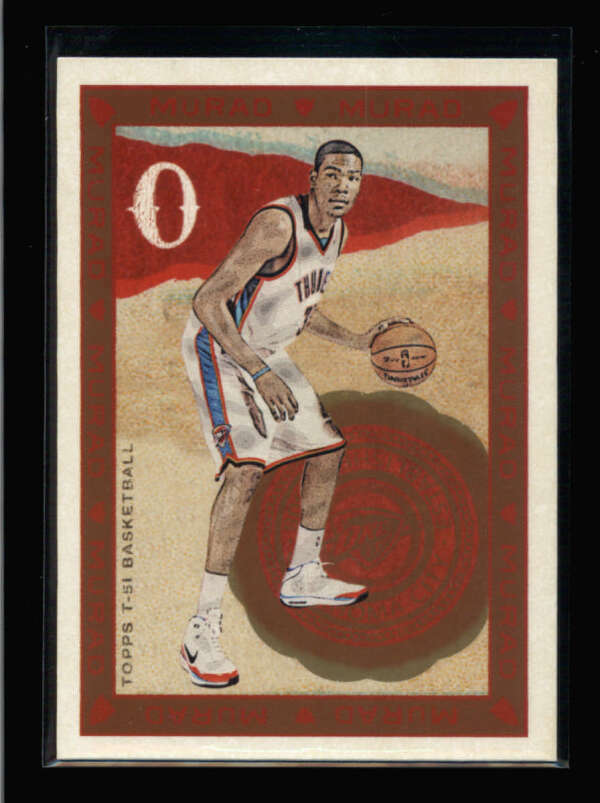 Kevin Durant 2009 2010 Topps Murad 3rd Year Basketball Series Mint Card #211