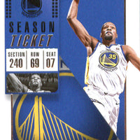 Kevin Durant 2018 2019 Panini Contenders Season Ticket Basketball Series Mint Card #8