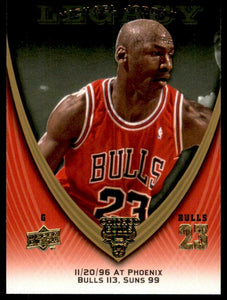 Michael Jordan 2008-09 Upper Deck Legacy Collection Basketball Series Mint Card #777