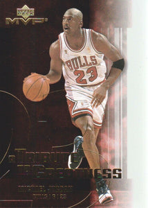 Michael Jordan 2003-04 Upper Deck MVP A Tribute to Greatness Basketball Series Mint Card #MJ7