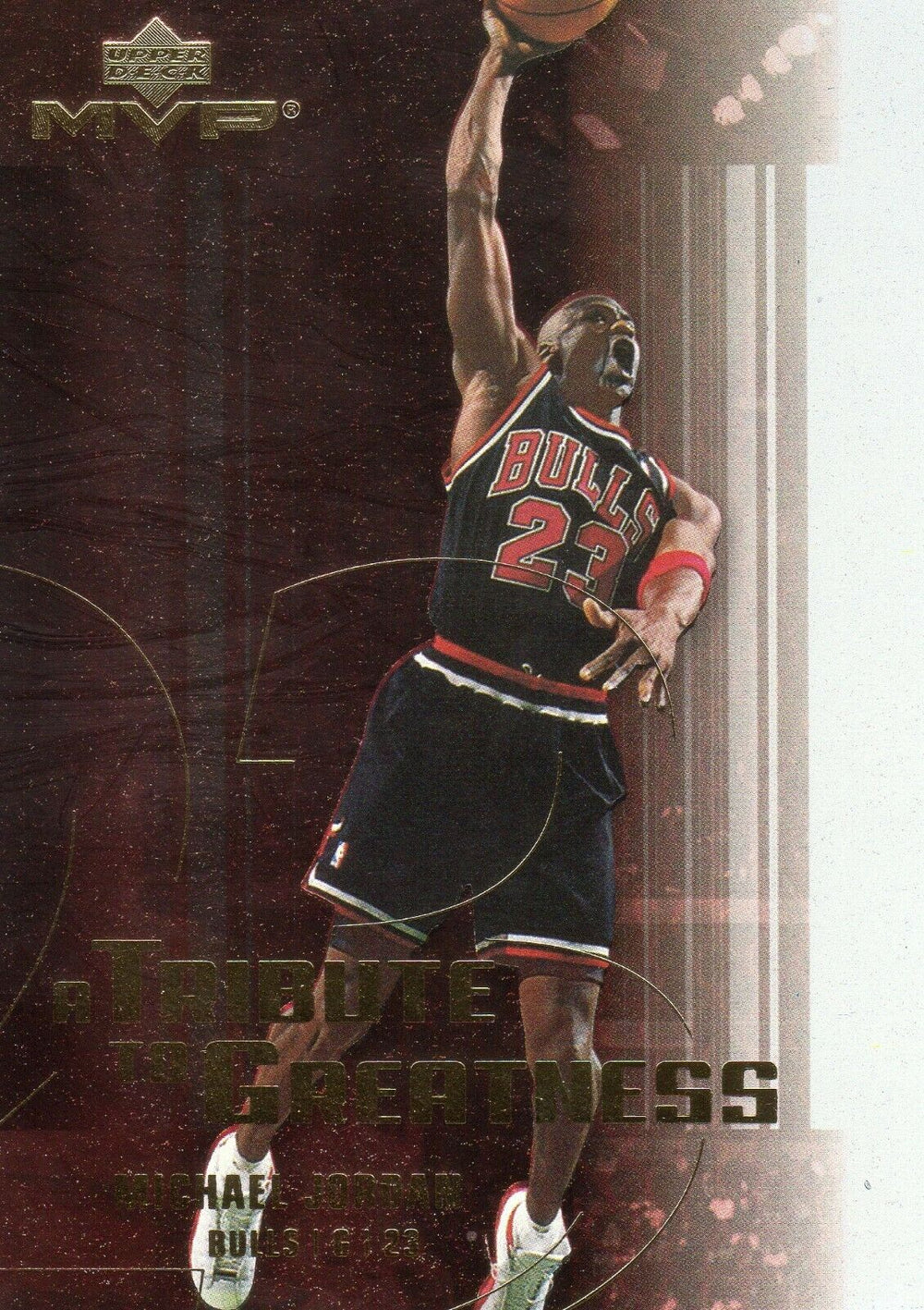 Michael Jordan 2003-04 Upper Deck MVP A Tribute to Greatness Basketball Series Mint Card #MJ5