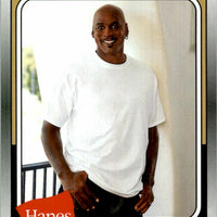 Michael Jordan 2019 Fleer Hanes Basketball Series Mint Card #MJ-16