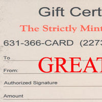 Strictly Mint  Gift Cards