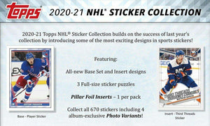 2020 2021 Topps NHL Sticker Collection Unopened Factory Sealed Box