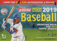 2019 Topps Heritage HIGH NUMBER Series Baseball Blaster Box