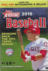 2019 Topps Heritage Baseball Sealed 35 Card HANGER Box