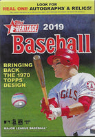 2019 Topps Heritage Baseball Factory Sealed 8 Box Hanger Case