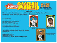 2021 Topps HERITAGE Baseball Series Factory Sealed Blaster Box