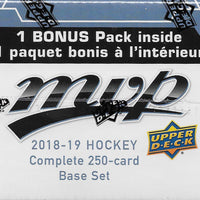 2018 2019 Upper Deck MVP Hockey Factory Set with Shortprints and Bonus Inserts