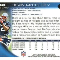 Devin McCourty 2010 Topps Football Mint Rookie Card #295
