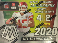 2020 Panini MOSAIC Football Blaster Box with chance for Retail Exclusive Autographs LIMIT of 2 boxes per customer