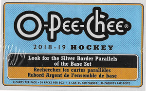 2018 2019 Upper Deck O Pee Chee Hockey Series Factory Sealed Retail Box