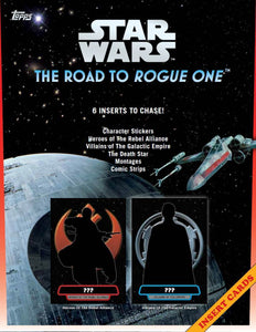 Topps STAR WARS Road to Rogue One Blaster Box of Packs with Character PATCH Card