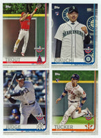 2019 Topps Opening Day Baseball Series Complete 200 Card Set With Stars and Rookies