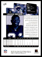 LaDainian Tomlinson 2001 Upper Deck Victory Series Mint Rookie Card #416