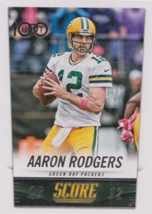 Aaron Rodgers 2014 Score Hot 100 Mint Card #236