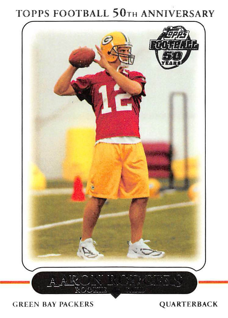 Aaron Rodgers 2010 Topps 50th Anniversary Mint Card #431